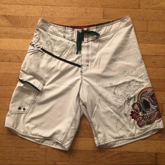 Billabong Other - Billabong Men's White Board Shorts Skull